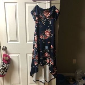 Charlotte Russe Floral Off-The-Shoulder Dress